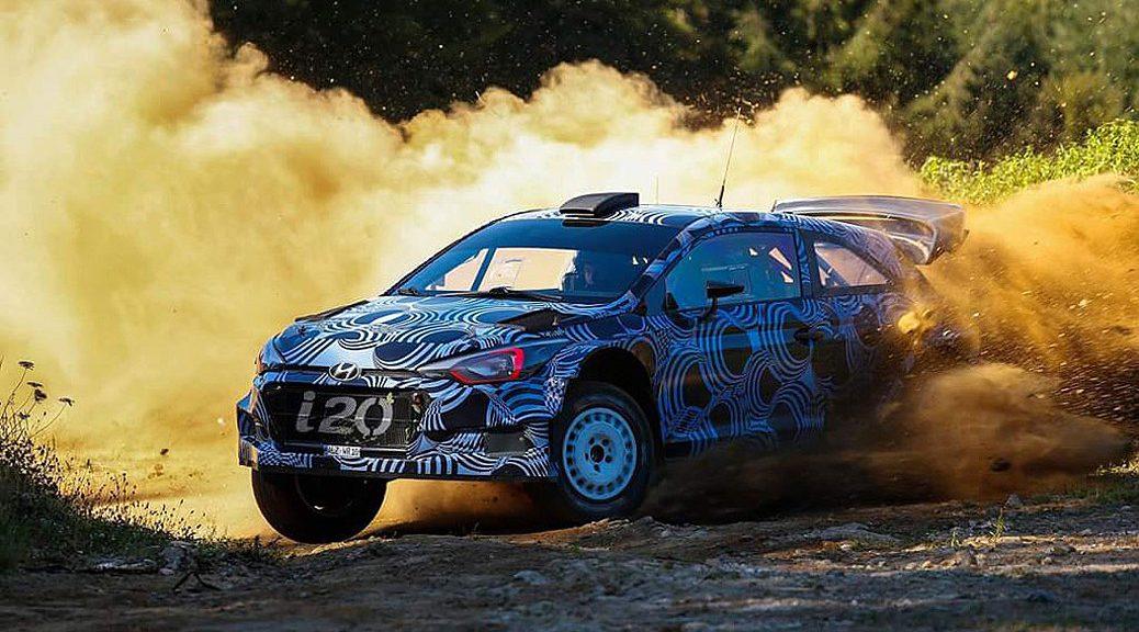 Hhyundai i20 WRC 2017 - Тесты на юге Франции 2016